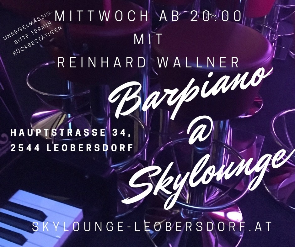 Live Barpiano in der Skylounge